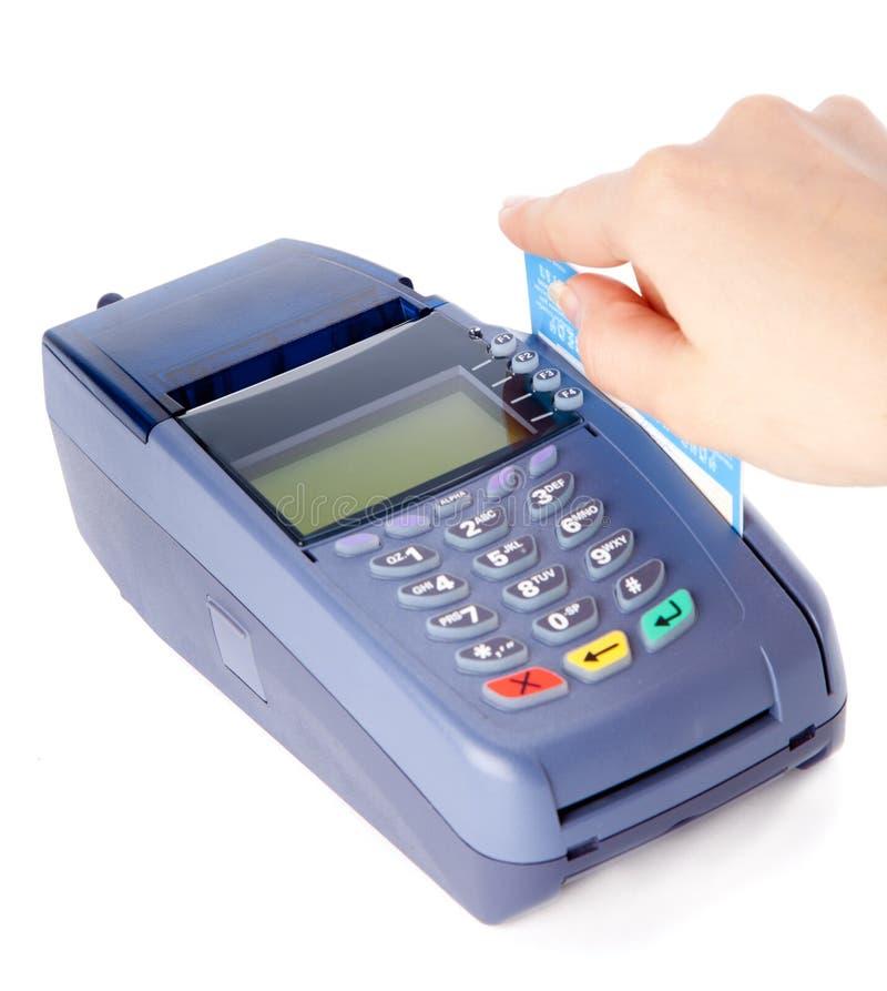 El pagar con de la tarjeta de crédito foto de archivo