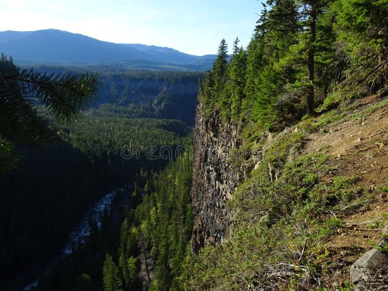 El paisaje cerca del Helmcken famoso baja en Wells Gray Provincial Park, Clearwater, Canadá imagenes de archivo