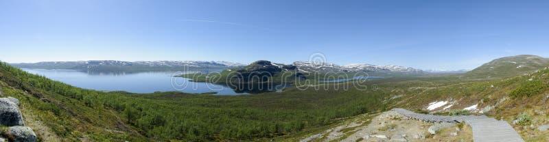 El paisaje de Laponia de Saana bajó, Kilpisjarvi, Enontekio, Laponia finlandesa, Finlandia, Europa foto de archivo libre de regalías