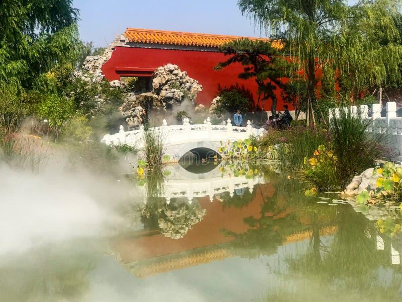 El paisaje del jardín imperial chino fotos de archivo libres de regalías