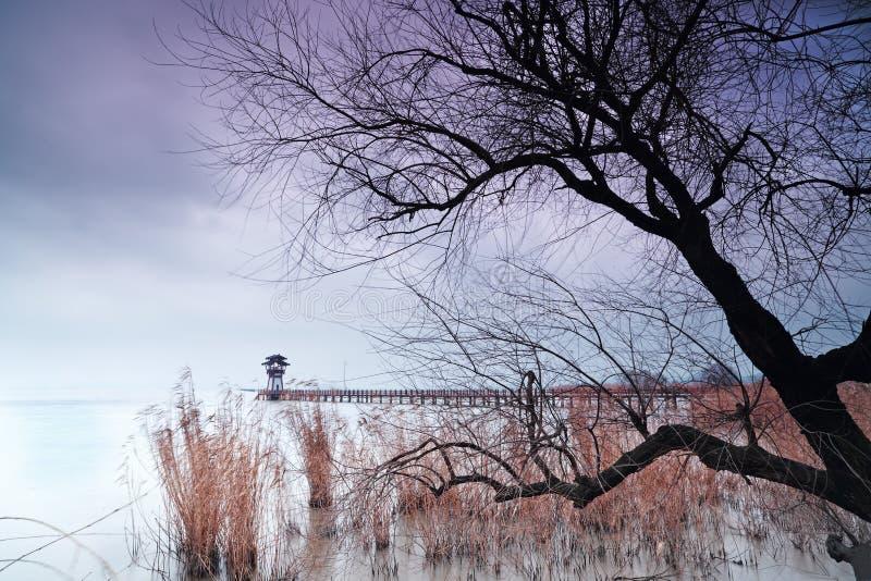 El paisaje del lago Taihu imagen de archivo libre de regalías