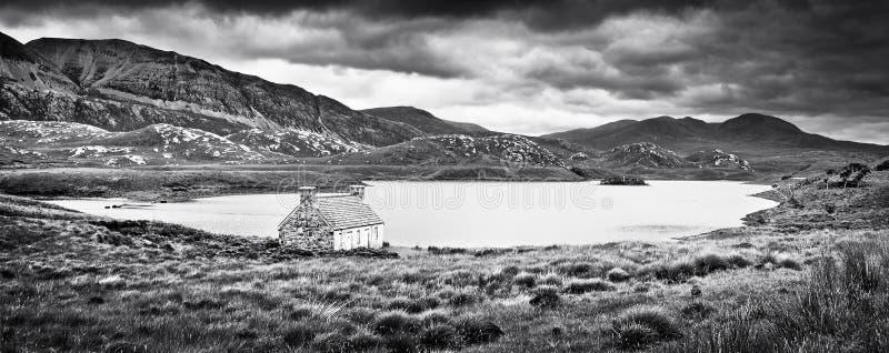 El paisaje dramático en la isla de reflexiona sobre, Escocia fotografía de archivo libre de regalías