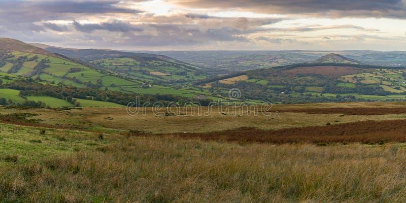 El paisaje en el Brecon baliza el parque nacional, País de Gales, Reino Unido imagen de archivo libre de regalías