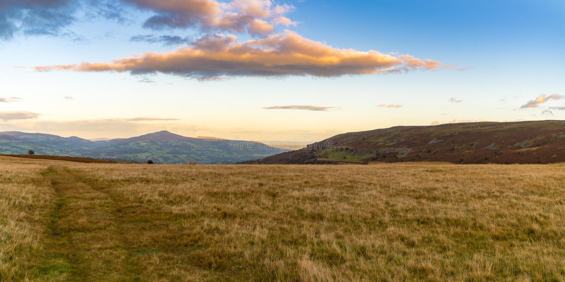 El paisaje en el Brecon baliza el parque nacional, País de Gales, Reino Unido fotografía de archivo libre de regalías