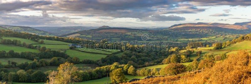 El paisaje en el Brecon baliza el parque nacional, País de Gales, Reino Unido fotos de archivo libres de regalías