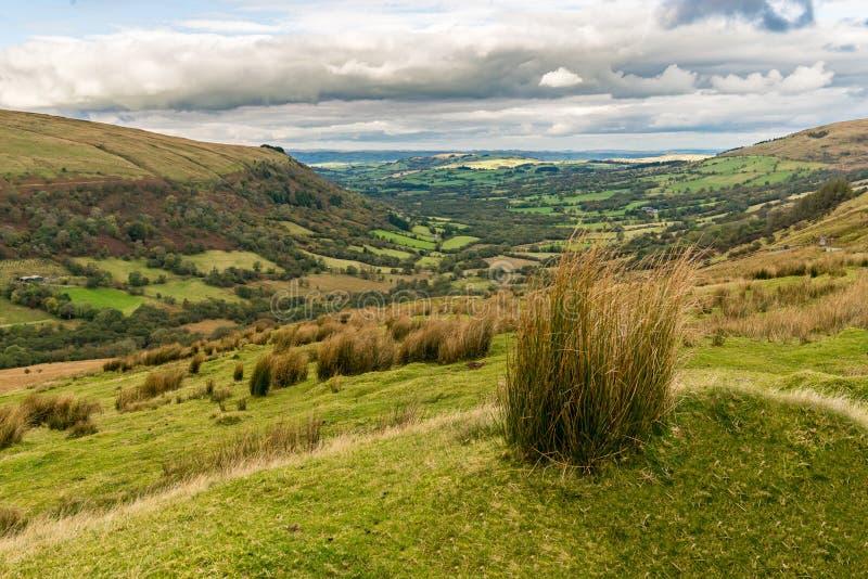 El paisaje en el Brecon baliza el parque nacional, País de Gales, Reino Unido foto de archivo