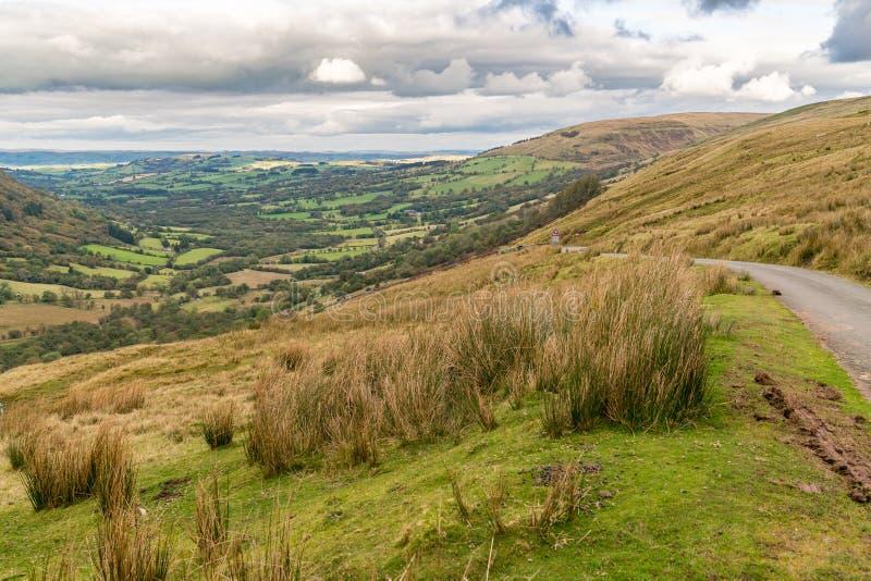 El paisaje en el Brecon baliza el parque nacional, País de Gales, Reino Unido foto de archivo libre de regalías