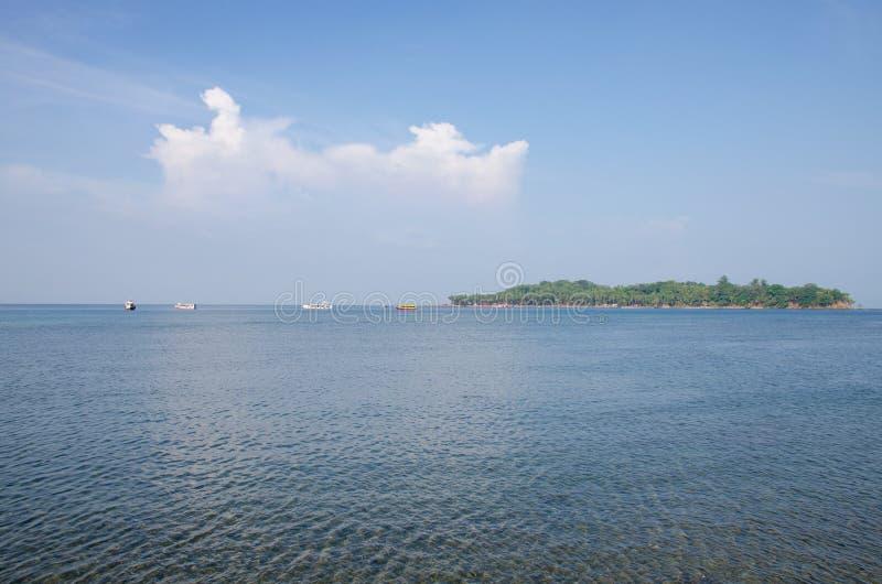 El paisaje hermoso protegió el puerto marítimo Blair India de Andaman foto de archivo