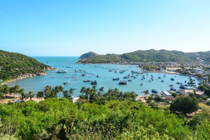 El paisaje marino en Phan sonó, Vietnam foto de archivo