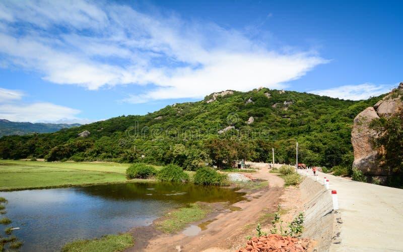 El paisaje rural en Phan sonó, Vietnam foto de archivo libre de regalías