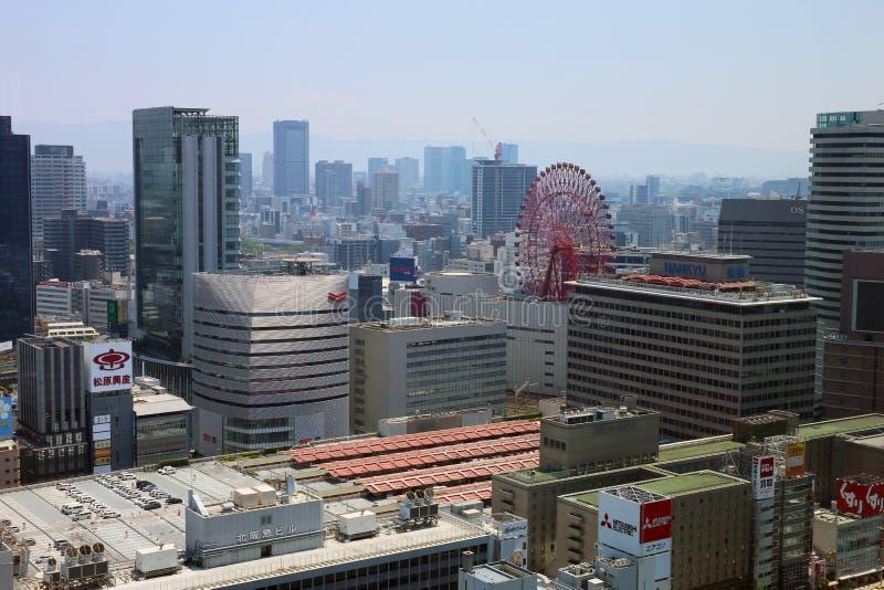 El paisaje urbano de Osaka, Japón fotografía de archivo libre de regalías