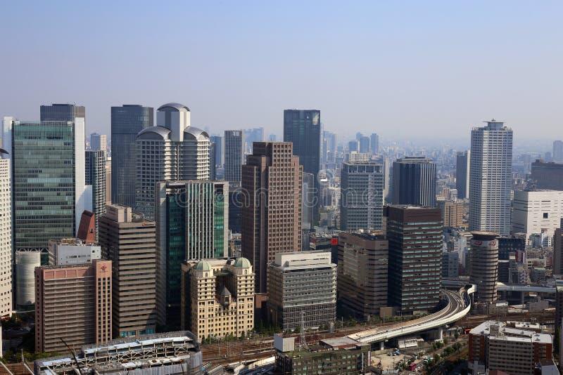El paisaje urbano de Osaka, Japón imagenes de archivo