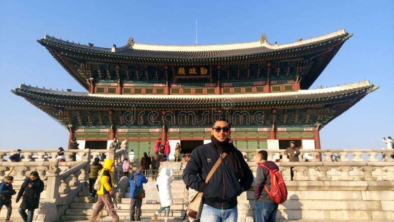 El palacio de Gyeongbokgung de los greates, Seúl Corea foto de archivo