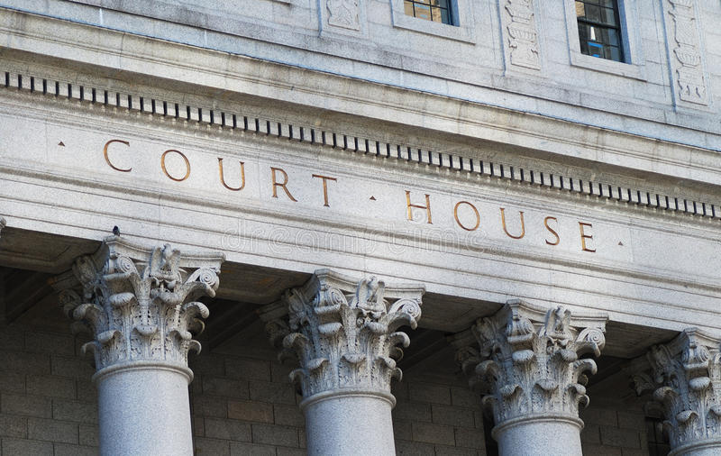 El Palacio de Justicia de las palabras foto de archivo libre de regalías
