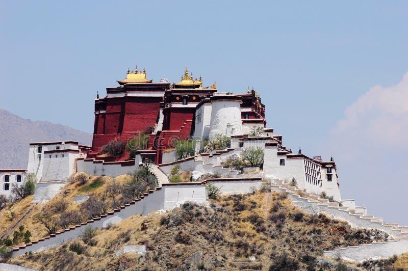El palacio de Potala en Lhasa foto de archivo libre de regalías