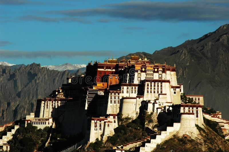 El Palacio De Potala En Lhasa Imagen de archivo