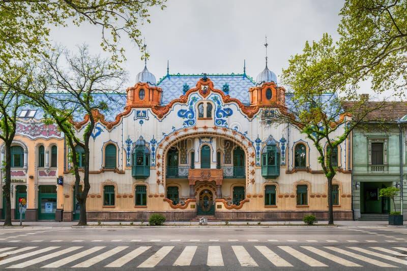 El palacio de Raichle en Subotica, Serbia imagen de archivo libre de regalías