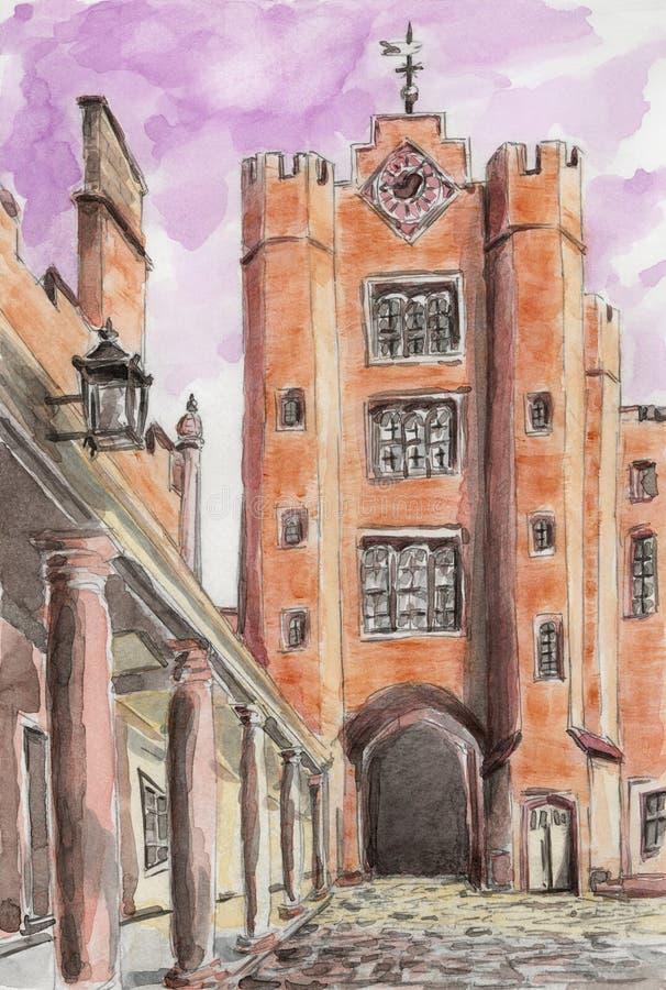 El palacio de San Jaime Londres, Reino Unido stock de ilustración