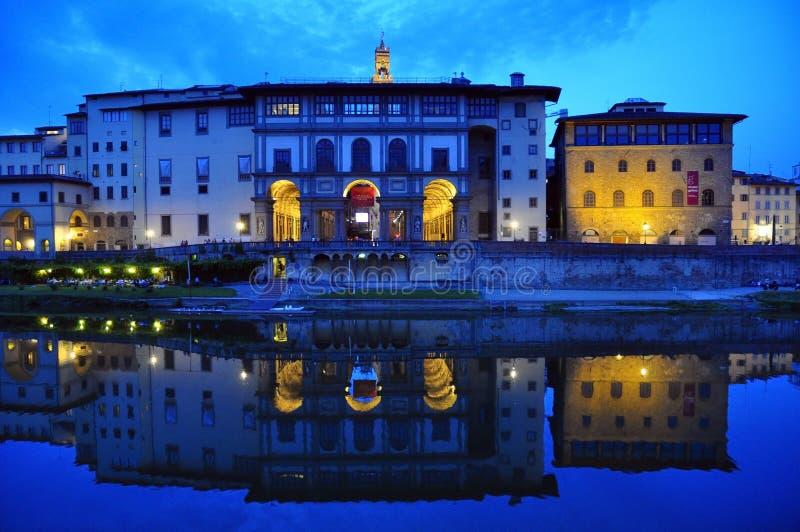El palacio de Uffizi imagenes de archivo