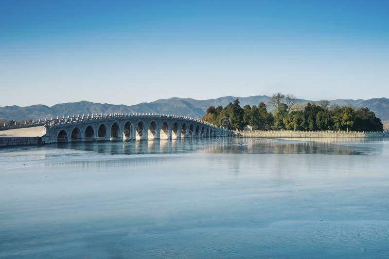El palacio de verano con el cielo azul foto de archivo libre de regalías
