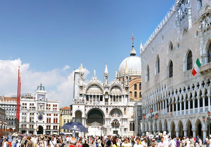 El palacio del dux, catedral de San Marco, Venecia imágenes de archivo libres de regalías