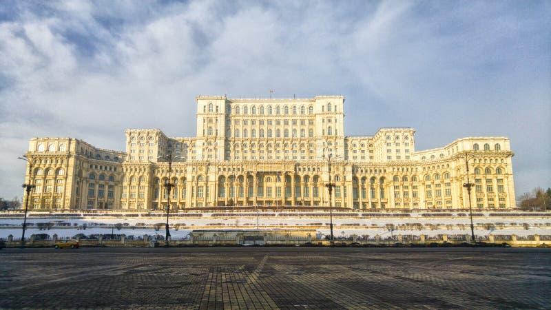 El palacio del parlamento Bucarest Rumania foto de archivo libre de regalías