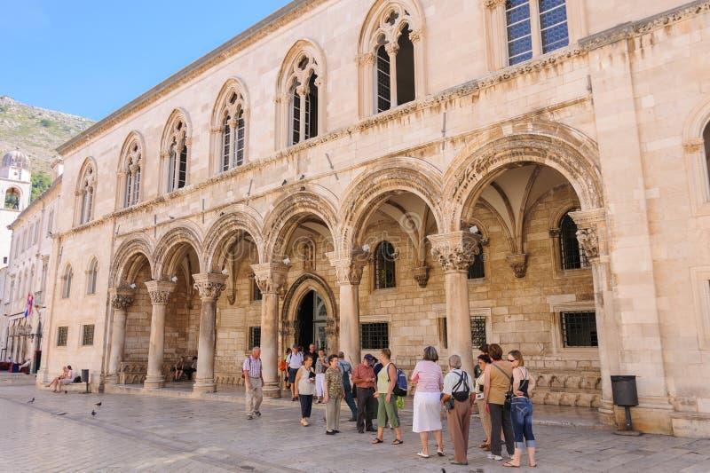 El palacio del rector de Dubrovnik fotografía de archivo