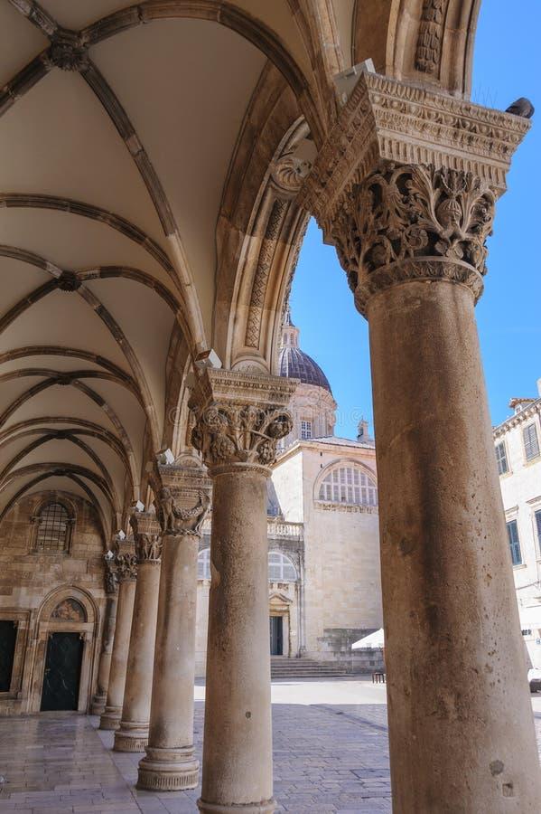 El palacio del rector de Dubrovnik imagenes de archivo
