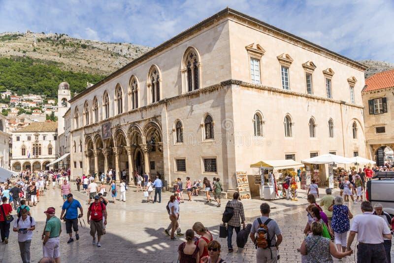 El palacio del rector, Dubrovnik imágenes de archivo libres de regalías
