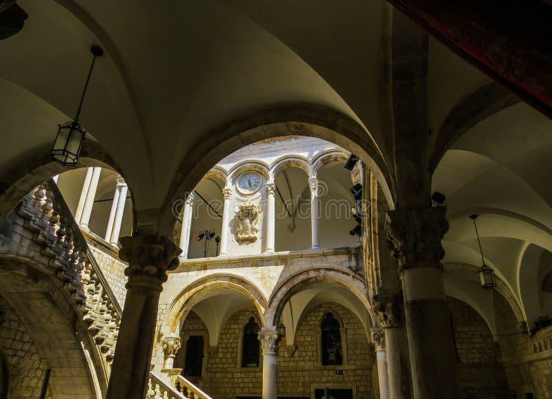 El palacio del rector, Dubrovnik Interior foto de archivo