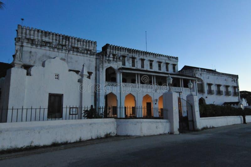 El palacio del sultán, Zanzíbar imagenes de archivo
