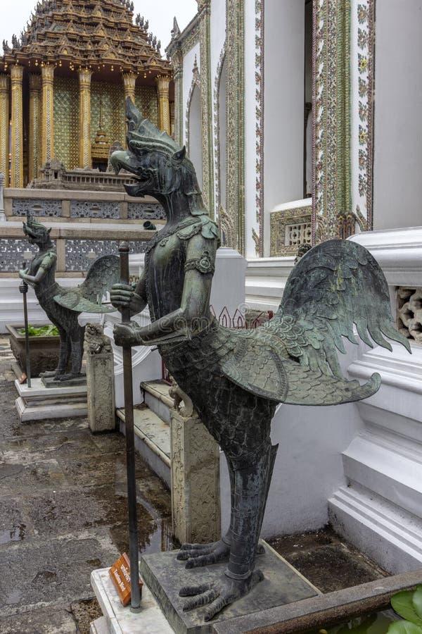 El palacio magnífico, en el corazón de Bangkok, su construcción comenzó 1782, en la orden de rey Phutthayotfa Chulalok tailandia foto de archivo libre de regalías