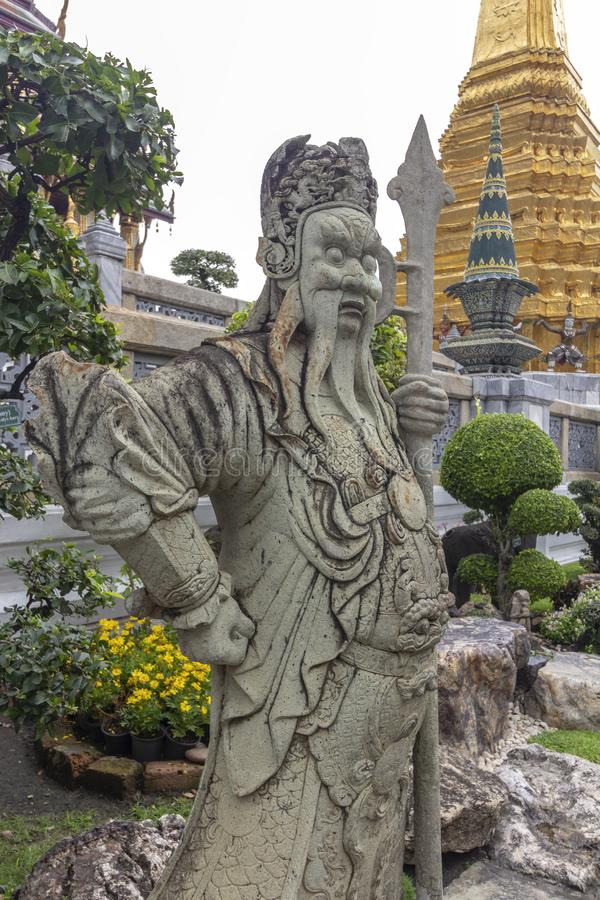 El palacio magnífico, en el corazón de Bangkok, su construcción comenzó 1782, en la orden de rey Phutthayotfa Chulalok tailandia fotos de archivo libres de regalías