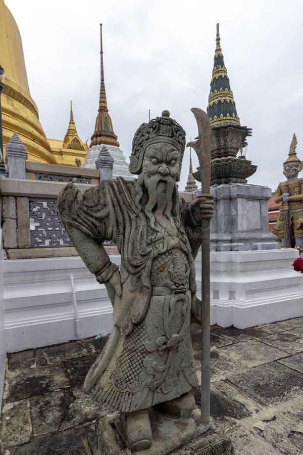 El palacio magnífico, en el corazón de Bangkok, su construcción comenzó 1782, en la orden de rey Phutthayotfa Chulalok tailandia imagenes de archivo