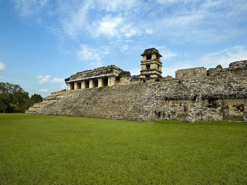 El Palacio Palenque. Chiapas Mexico royalty free stock photo