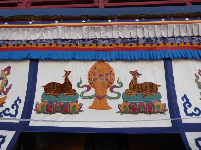 El palacio Potala dentro de Lhasa Tibet fotografía de archivo libre de regalías