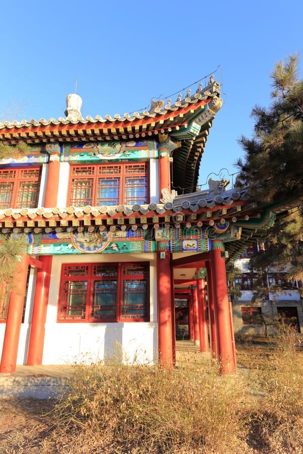El palacio real antiguo en la Universidad de Pekín, adobe rgb fotografía de archivo