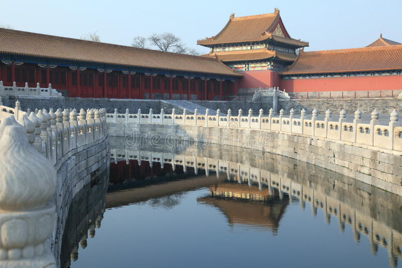 El palacio real, ciudad prohibida en Pekín fotos de archivo libres de regalías