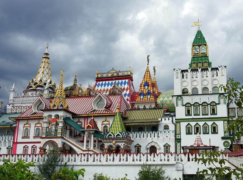 El palacio reconstruido de los zares rusos fotografía de archivo libre de regalías