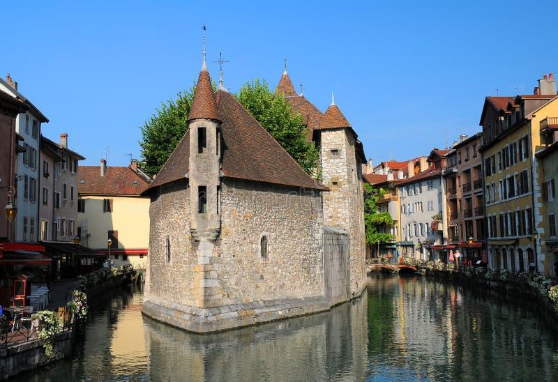 El Palais de l isla del ` en Annecy, Francia fotos de archivo libres de regalías