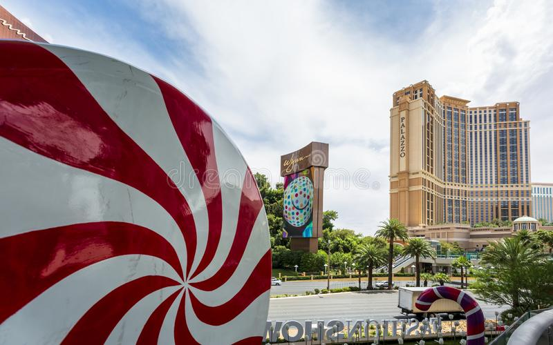 El Palazzo, la tira, Las Vegas Boulevard, Las Vegas, Nevada, los E.E.U.U., Norteamérica fotos de archivo libres de regalías