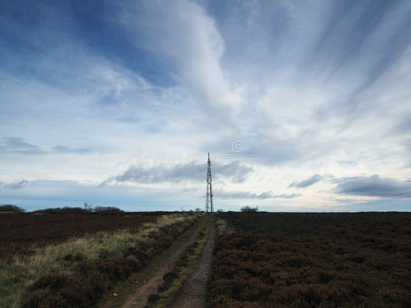 El palo del transmisor en amarra imagen de archivo