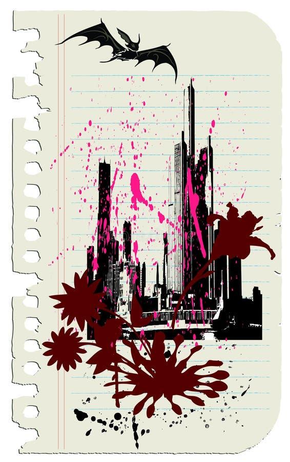 Download El palo y los rascacielos ilustración del vector. Imagen de base - 6688644