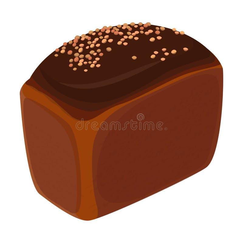El pan del estilo realista del pan del ladrillo aisló el ejemplo libre illustration