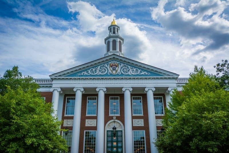 El panadero Library, en la escuela de Harvard Business, en Boston, Massac fotografía de archivo