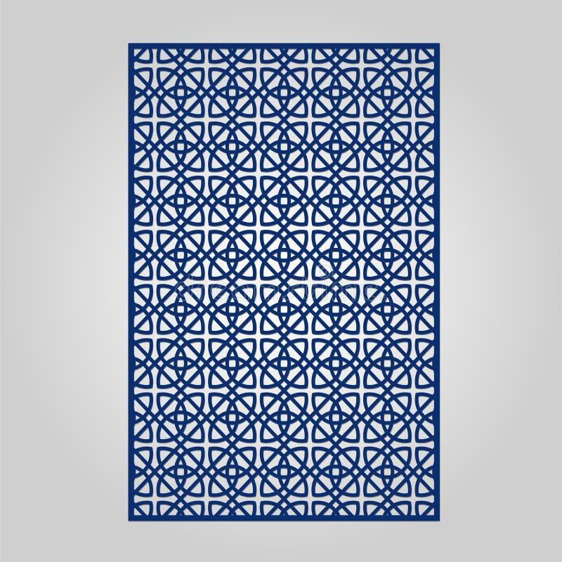 El panel abstracto del recorte para el corte, cortar con tintas o la plantilla del laser stock de ilustración