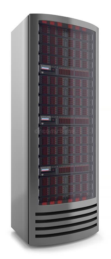 El panel 3d del gabinete del servidor stock de ilustración