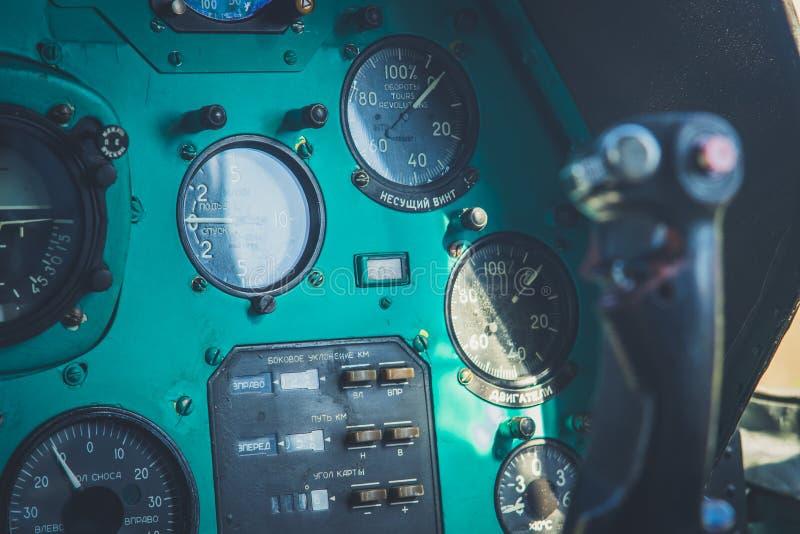 El panel de aviones viejo foto de archivo libre de regalías