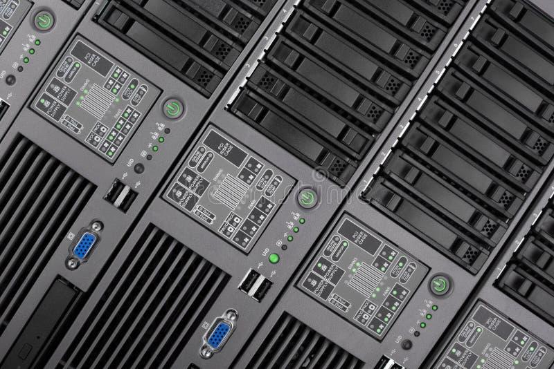 El panel de delante del primer del servidor Tecnología de Internet, tecnología anticuada fotos de archivo libres de regalías