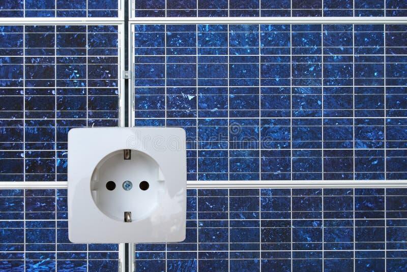 El panel de energía solar imágenes de archivo libres de regalías